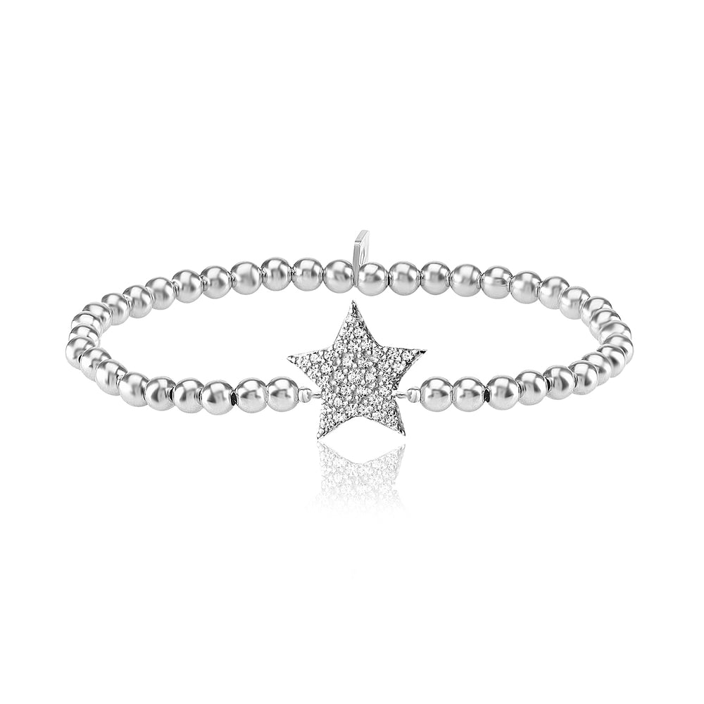 Palmo 18kt Rose Gold Plated Beaded Star Bracelet