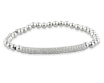 Palmo 18kt Rose Gold Plated Beaded Diamond Bracelet