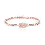 Palmo 18kt Rose Gold Plated Beaded Hamsa Bracelet
