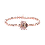 Palmo 18kt Rose Gold Plated Beaded Bee Bracelet