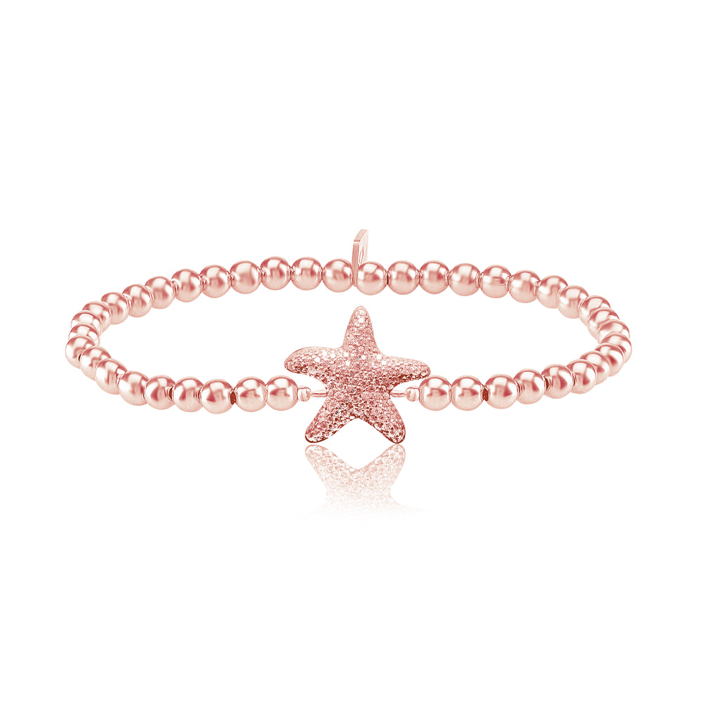Palmo 18kt Rose Gold Plated Beaded Starfish Bracelet