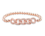 Palmo 18kt Rose Gold Plated Beaded Lane Bracelet