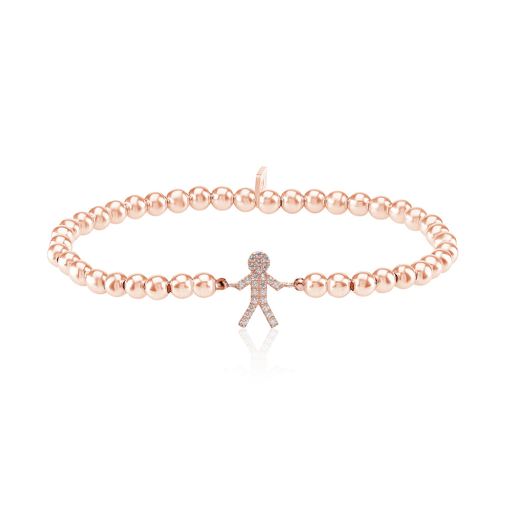 Palmo 18kt Rose Gold Plated Beaded Son Bracelet