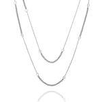 "Palmo Sterling Silver Long Necklace 44"" PLM1774N"