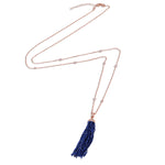 Palmo Sterling Silver Tassel Handmade Long Necklace PLM1836N
