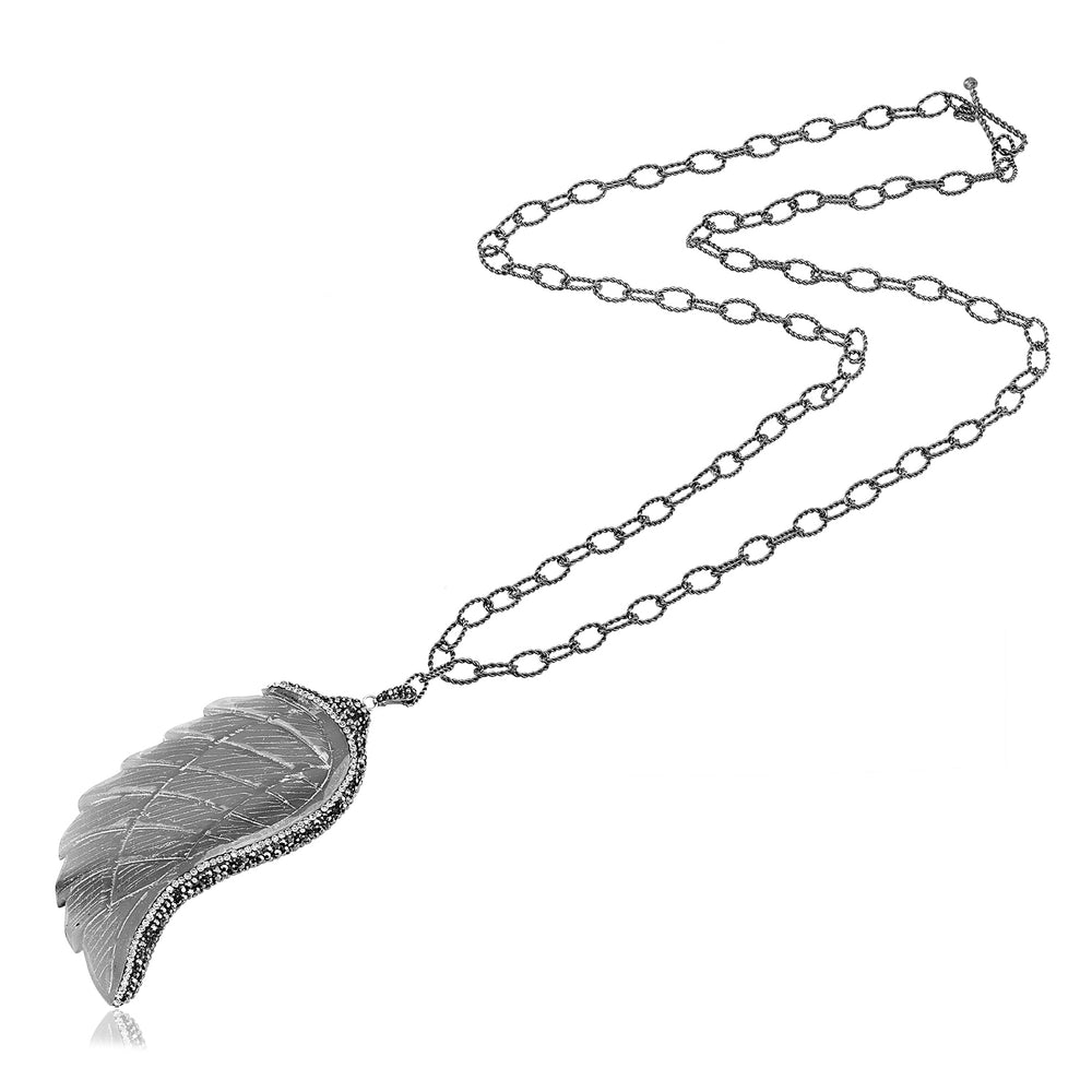 Palmo Sterling Silver Wing Handmade Necklace PLM1772N