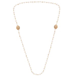 Palmo Sterling Silver Baroque Genuine Pearl Necklace PLM1669N