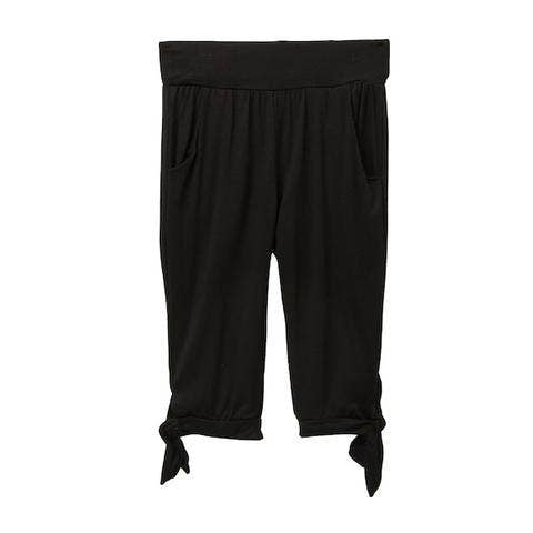 Black, tie detail girls capris