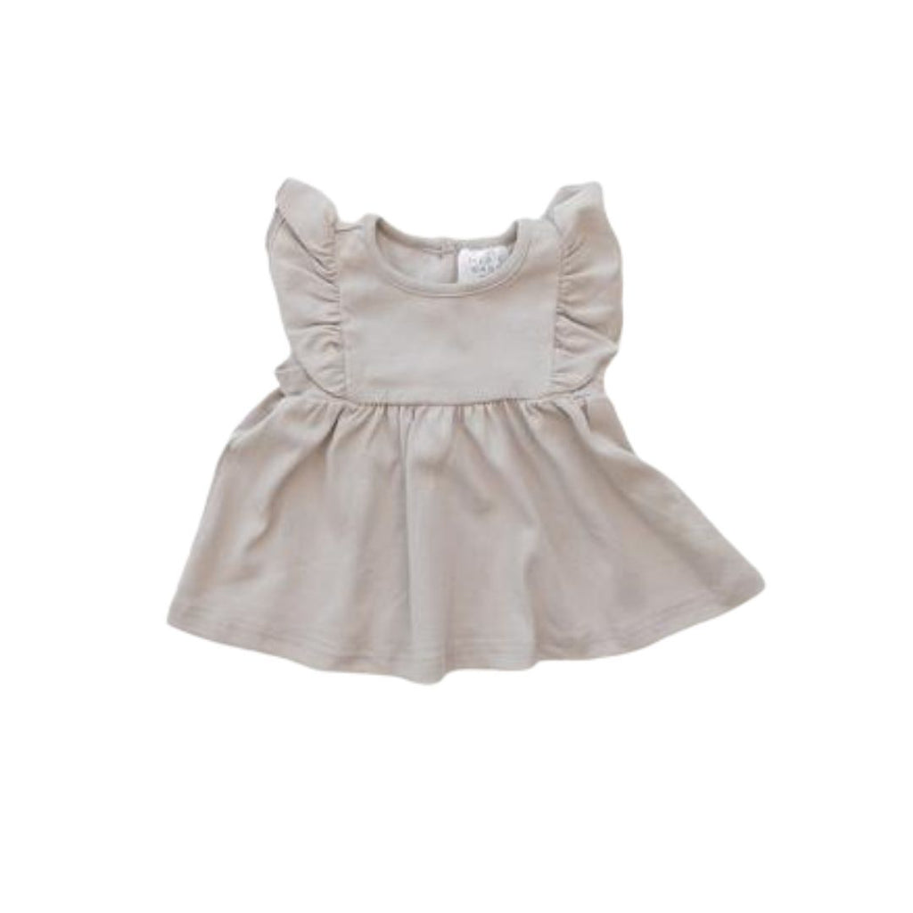 Babes and Tots - Ash Cotton Ruffle Dress
