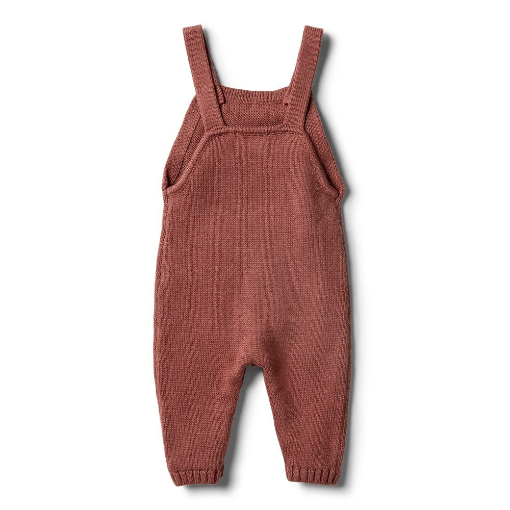 Babes - Organic Chilli Knitted Overalls