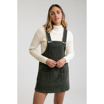 RHYTHM EDINBURGE PINAFORE DRESS FOREST