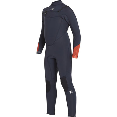 BILLABONG JUNIOR ABSOLUTE COMP 4/3 CHEST ZIP NAVY