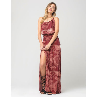 ONEILL KRAVITZ MAXI DRESS RUST