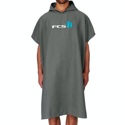FCS CHAMOIS HOODED SURF TOWEL GREY