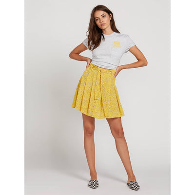 VOLCOM HEY BUD SKIRT CITRON