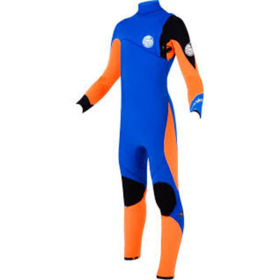 RIPCURL JUNIOR FLASHBOMB 4/3 ZIP FREE ORANGE