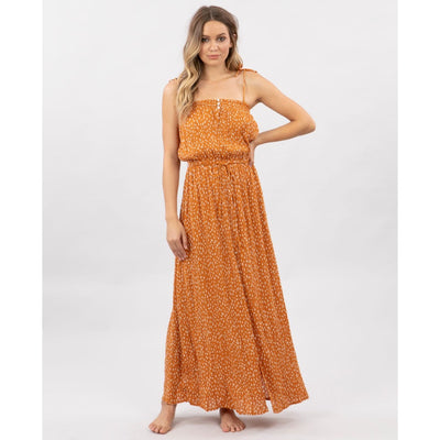RIPCURL SAFARI SUN MAXI DRESS HONEY