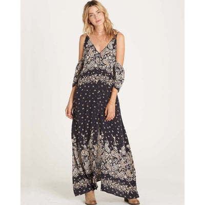 BILLABONG DESERT DANCE DRESS WASHED BLACK