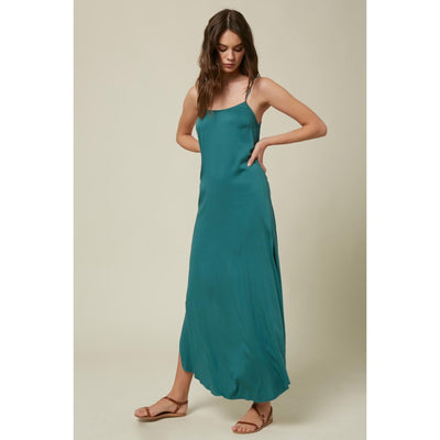 ONEILL KOKO SOLID DRESS WASHED SPRUCE