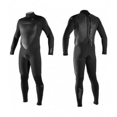 ONEILL HEAT 3Q-ZIP 3/2 BACK ZIP BLACK
