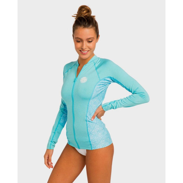 RIPCURL TRESTLES BLUE LONG SLEEVE RASH GUARD