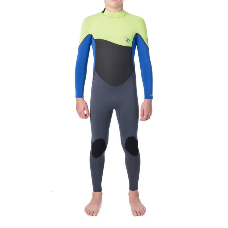 RIPCURL JUNIOR OMEGA 4/3 BACK ZIP LIME 2020