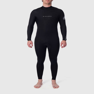 RIPCURL DAWN PATROL PLUS 3/2 BACK ZIP BLACK 2020