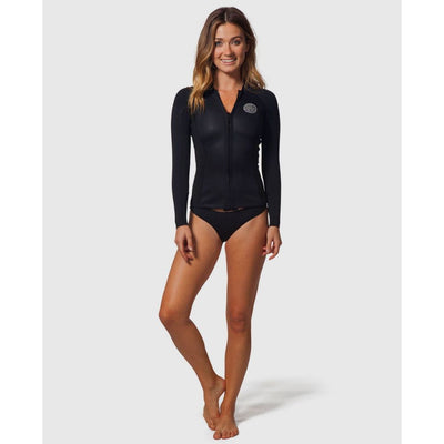 RIPCURL WMS DAWN PATROL 1.5MM FULL ZIP BLACK 2020