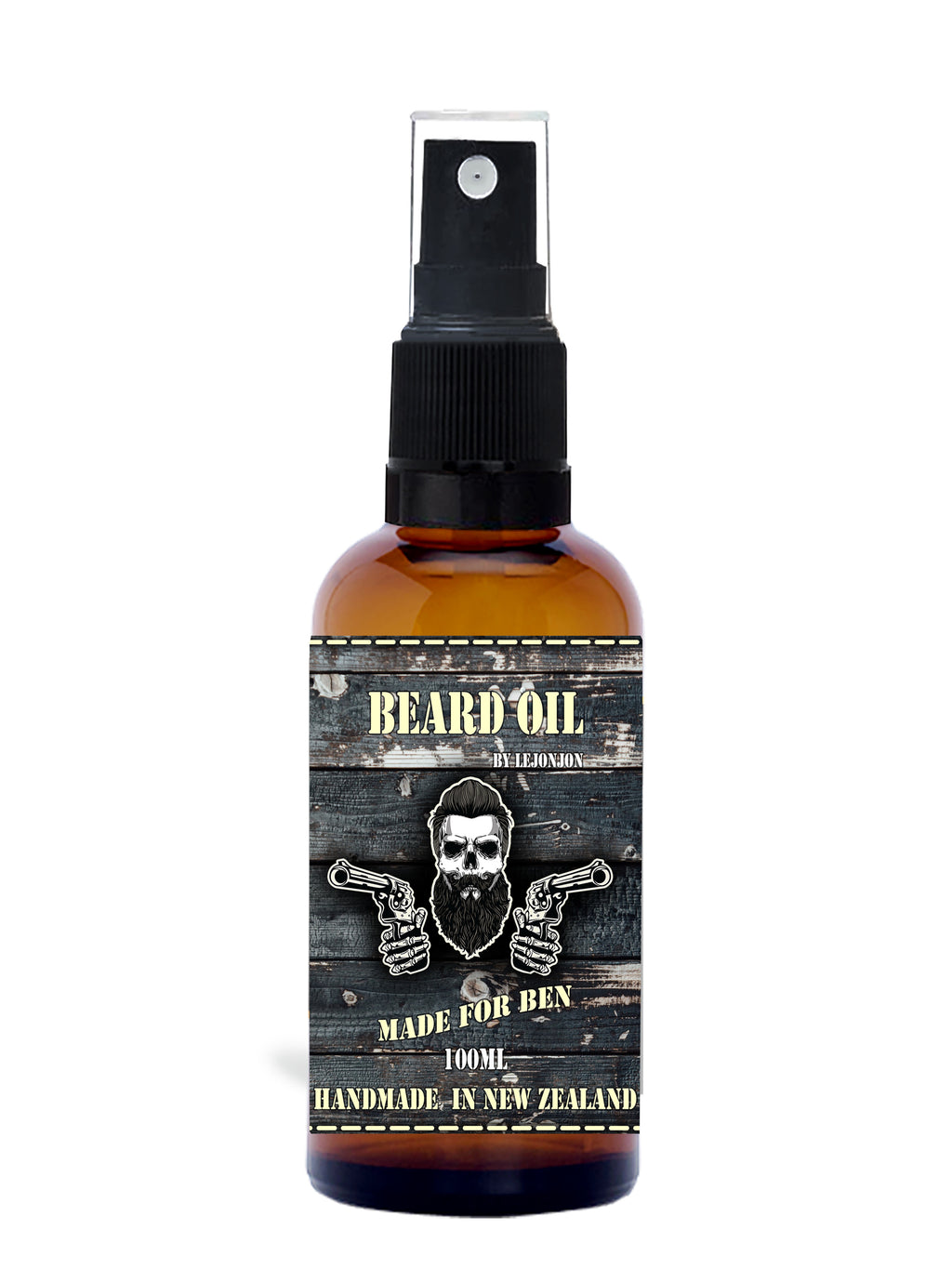 Customized name beard oil