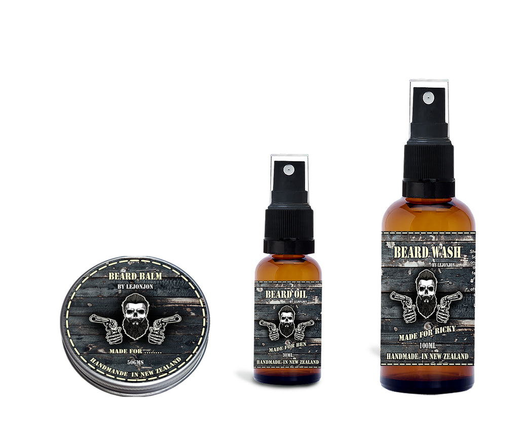 Customized Beard Oil, Beard Balm, Beard Wash