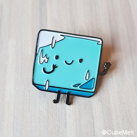Cubemelt Enamel pin - Ice to meet you! - CubeMelt