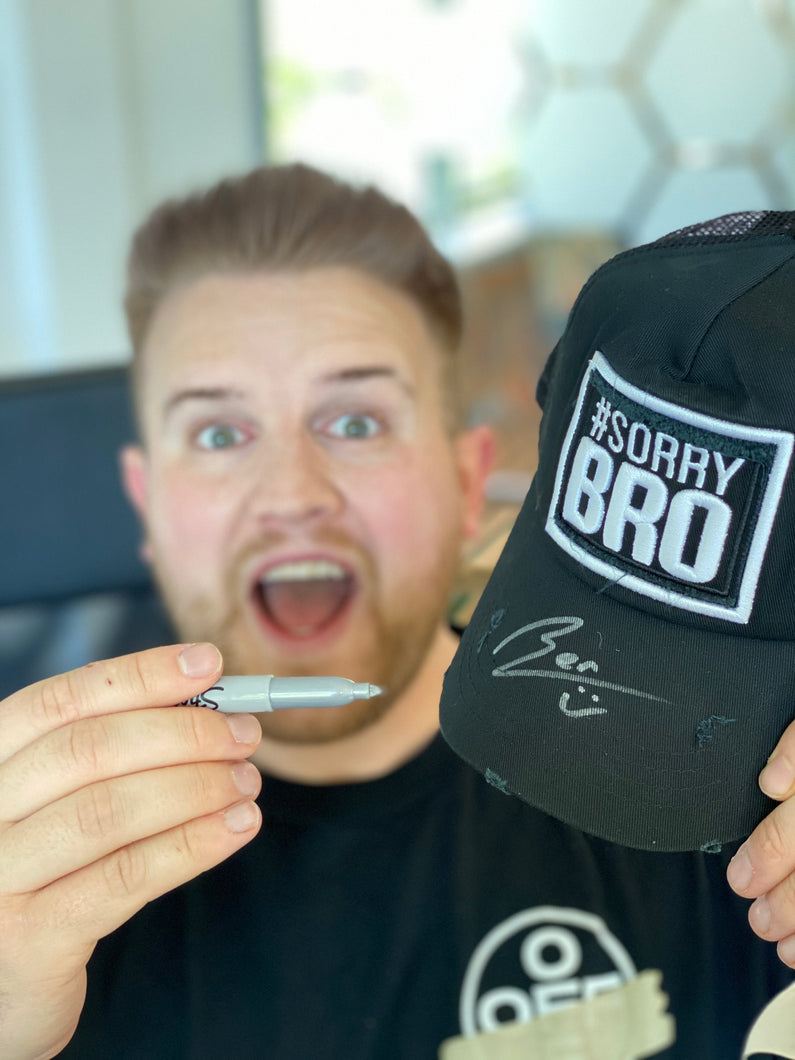 SORRY BRO HAT (picture for illustration, hat not signed)