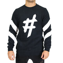 Load image into Gallery viewer, Black Hashtag Sweater