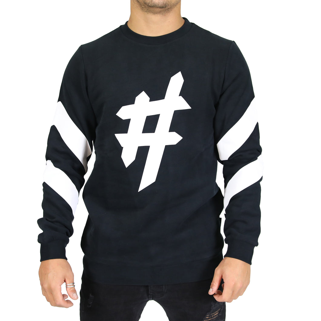 Black Hashtag Sweater