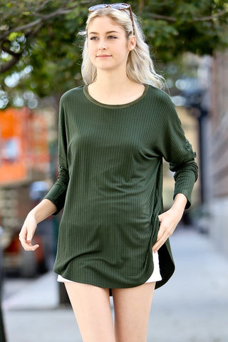 Olive Patched Tunic