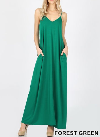 Forest Green Maxi Dress