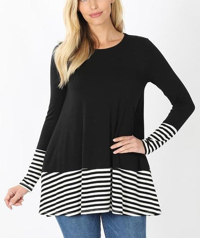 Black Striped Top