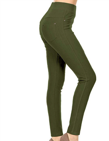 Super Stretchy Jeggings - Olive