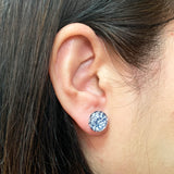 Round Glass Tile Earrings