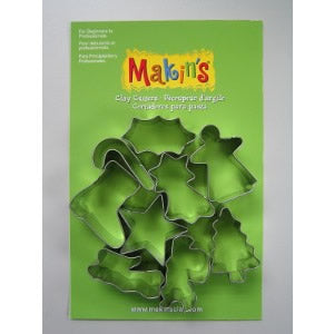 Makin's Clay Cutters Set - Christmas A