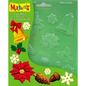 Makin's Clay Push Mold - Christmas Nature