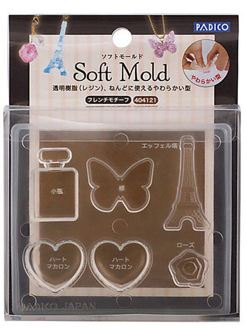 PADICO Decollage Soft Clay Mold - French Motif