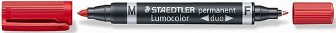 STAEDTLER LUMOCOLOR Permanent Duo RED