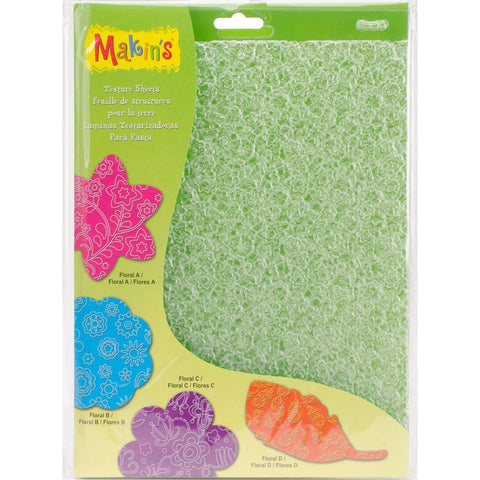 Makin's Clay Texture Sheet - Floral