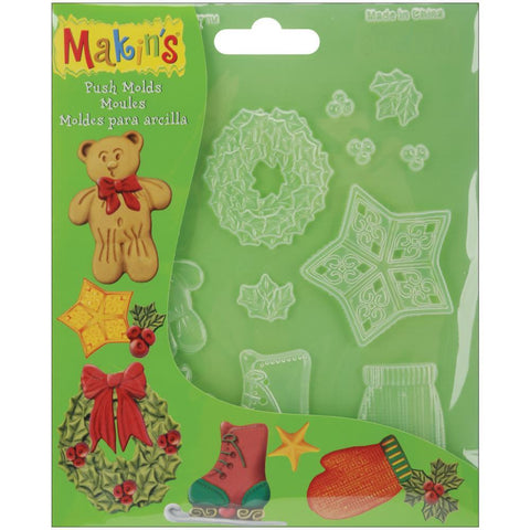 Makin's Clay Push Mold - Christmas Decor