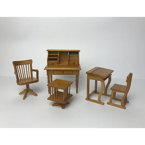 Miniature Study Desk Set