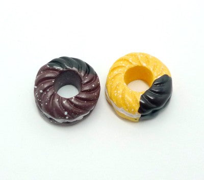 Chocolate and Cream Donuts Cabochon Set