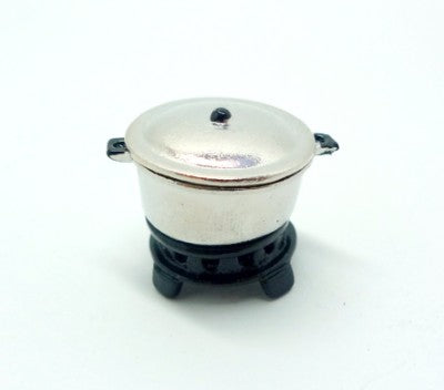 Soup Pot with Stove (Silver)