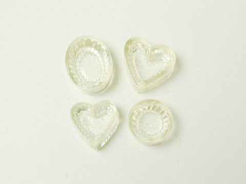 Heart/Oval/Round-Shaped Cupcakes/Tarts Bases