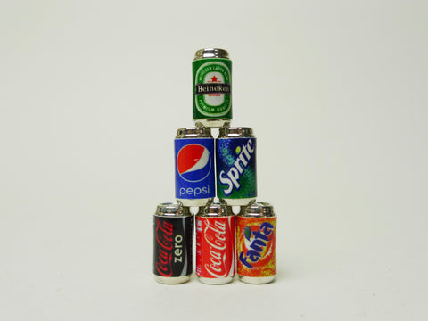 Soft Drink and Beer Cans Set